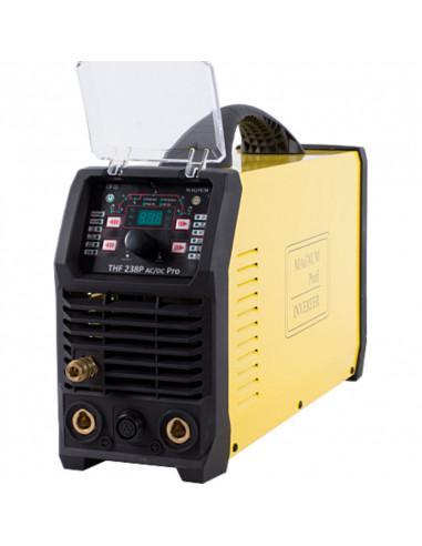 Spawarka TIG Magnum THF 238 PRO AC/DCwersja z funkcja BiLevel, zmienna fala AC, uchwyt ze sterowaniem w rękojeści